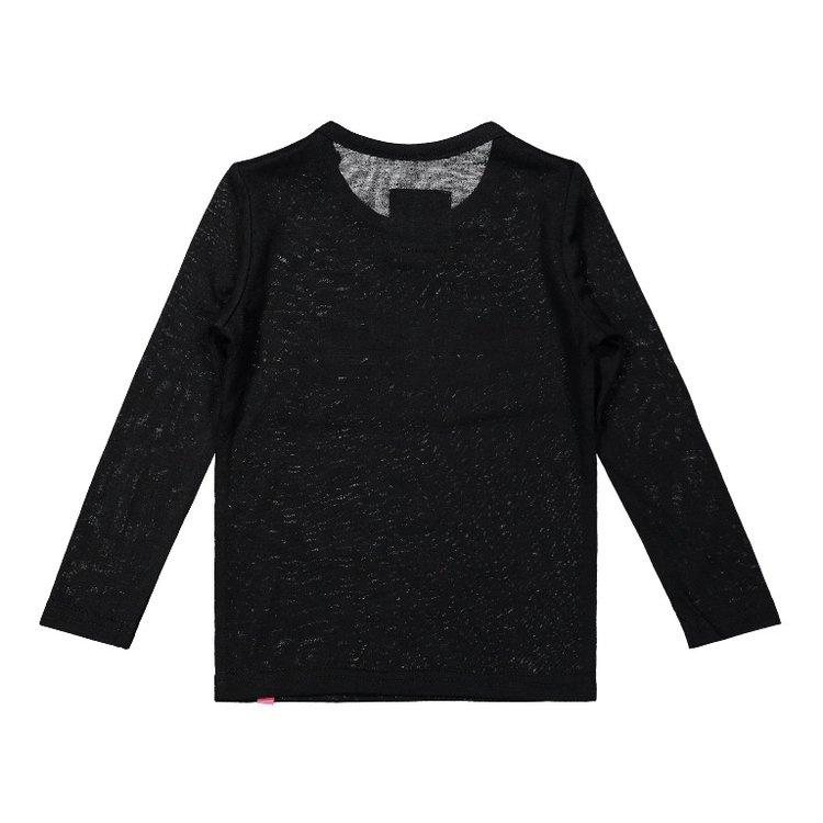 Koko Noko girls shirt black pink | F40964-37