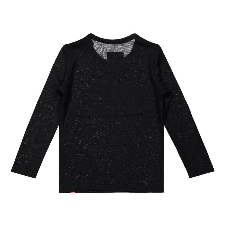 Koko Noko meisjes shirt zwart roze   F40964-37