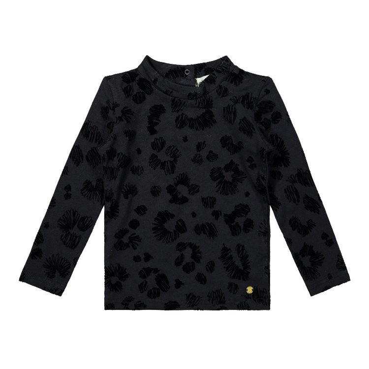 Koko Noko meisjes shirt zwart panter | F40967-37