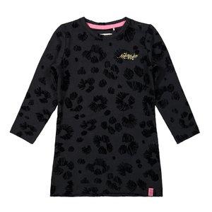 Koko Noko meisjes jurk zwart panter