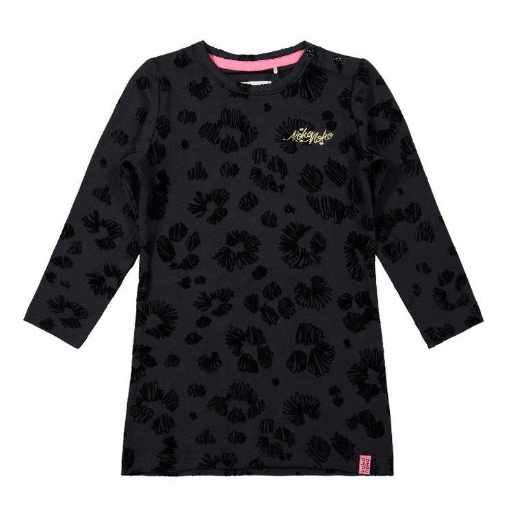 Koko Noko meisjes jurk zwart panter | F40970-37