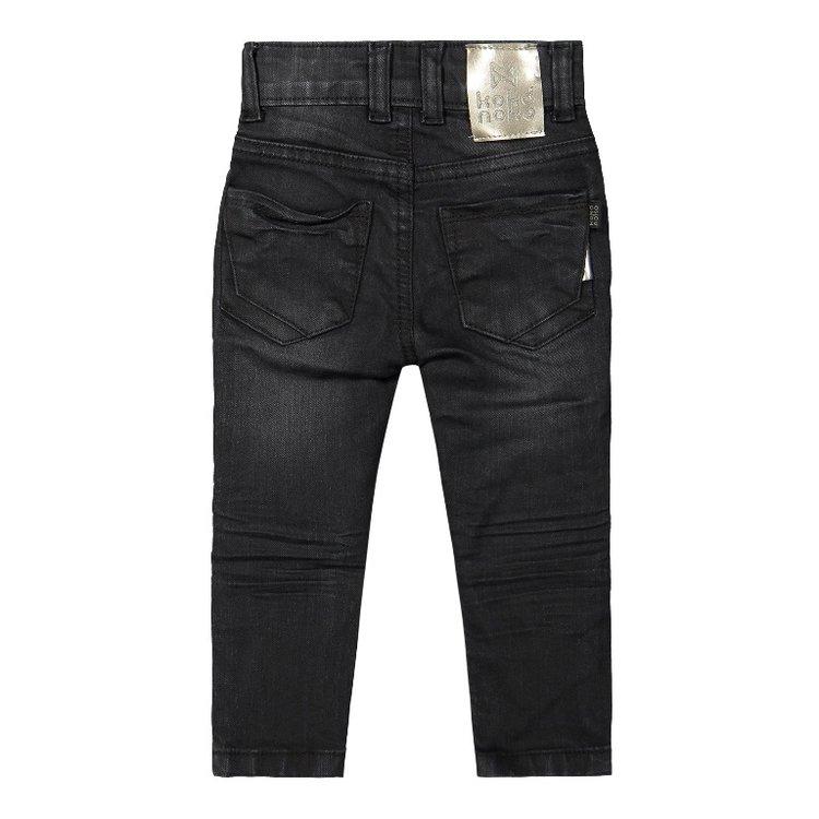 Koko Noko meisjes jeans zwart   F40973-37