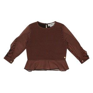 Koko Noko girls blouse rust brown