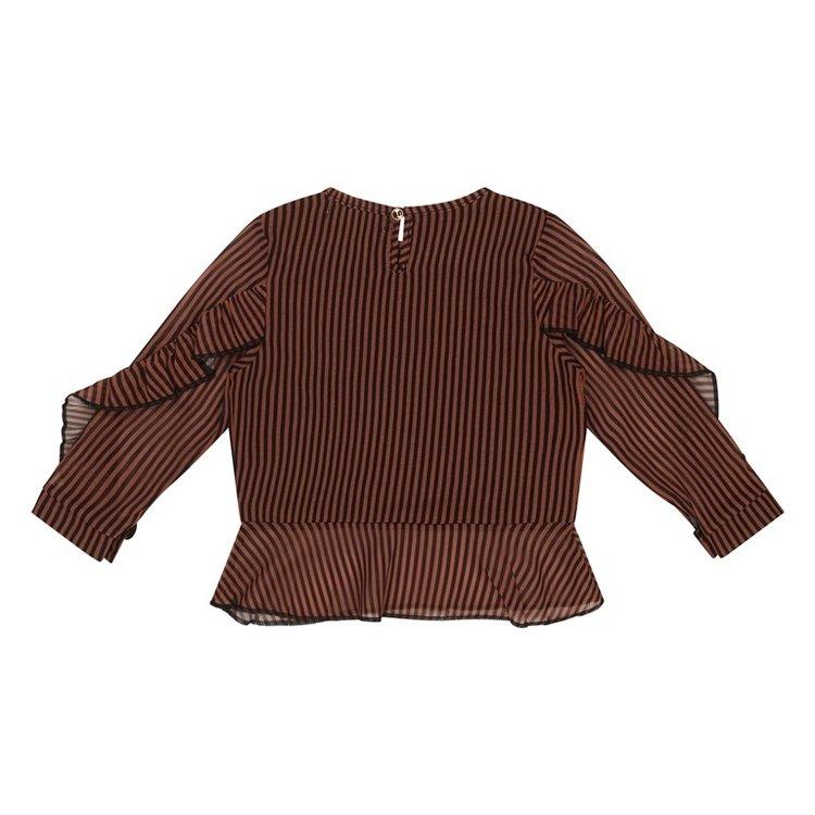 Koko Noko meisjes blouse roest bruin   F40975-37