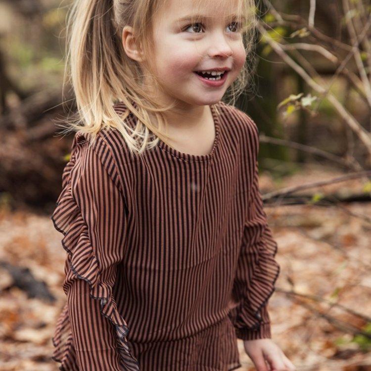 Koko Noko girls blouse rust brown   F40975-37