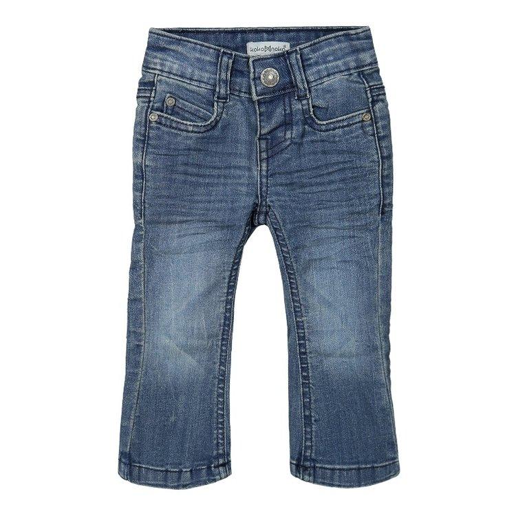 Koko Noko meisjes flared blauwe jeans   F40976-37