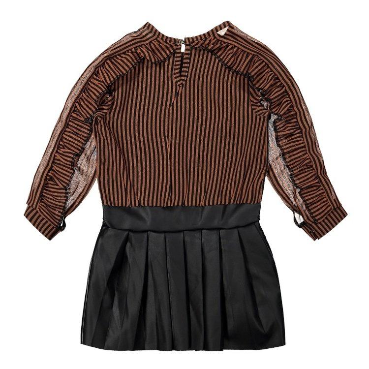Koko Noko girls dress rust brown | F40978-37