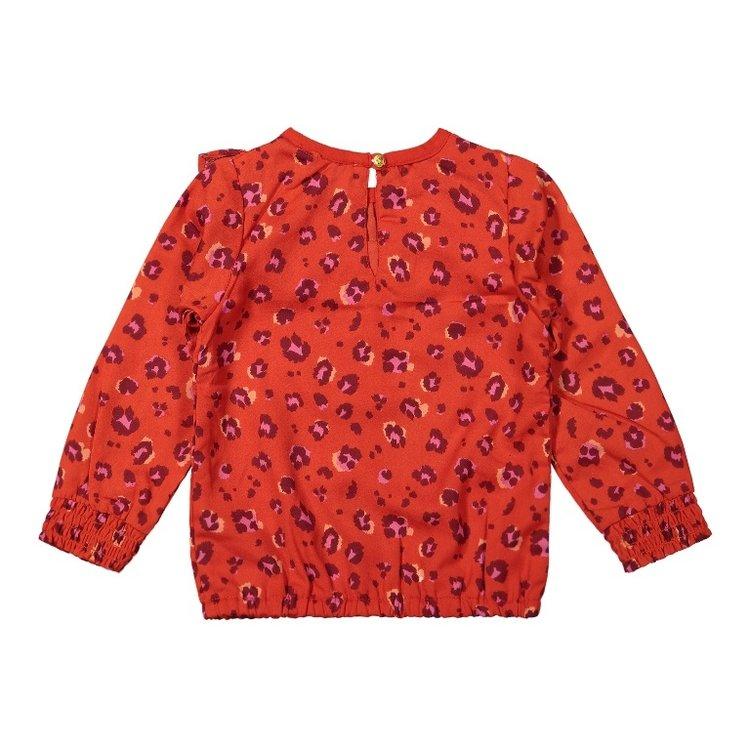 Koko Noko girls blouse red panther print | F40980-37