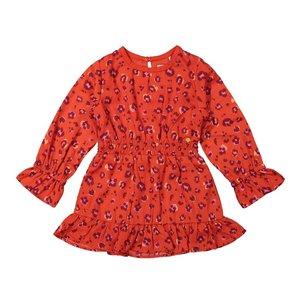 Koko Noko meisjes jurk rood panterprint