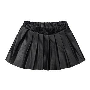 Koko Noko meisjes rok zwart lederlook
