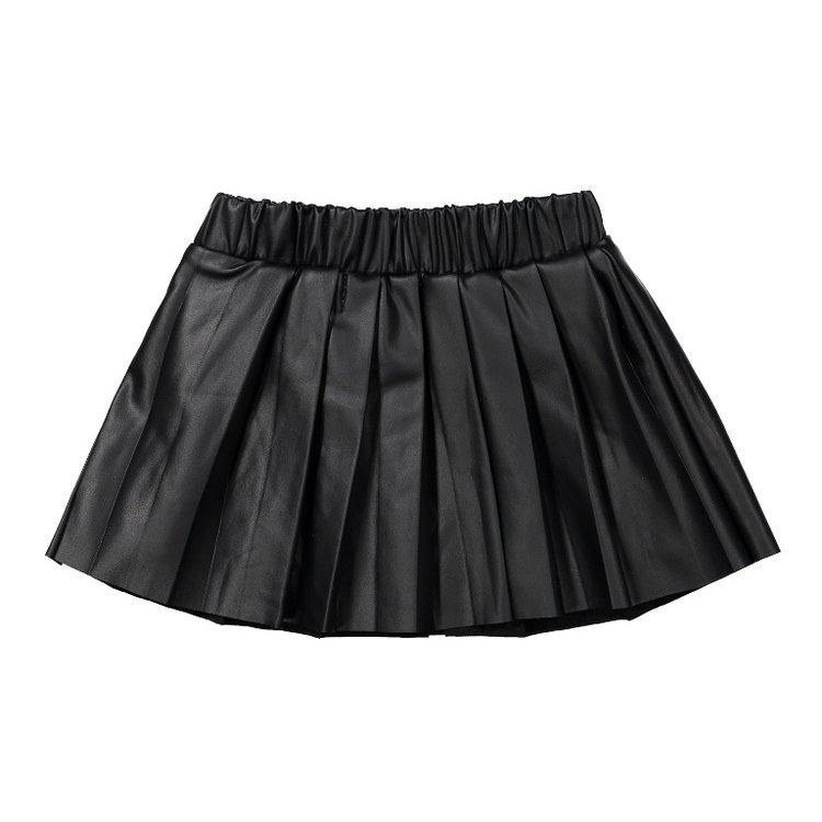 Koko Noko meisjes rok zwart lederlook | F40984-37