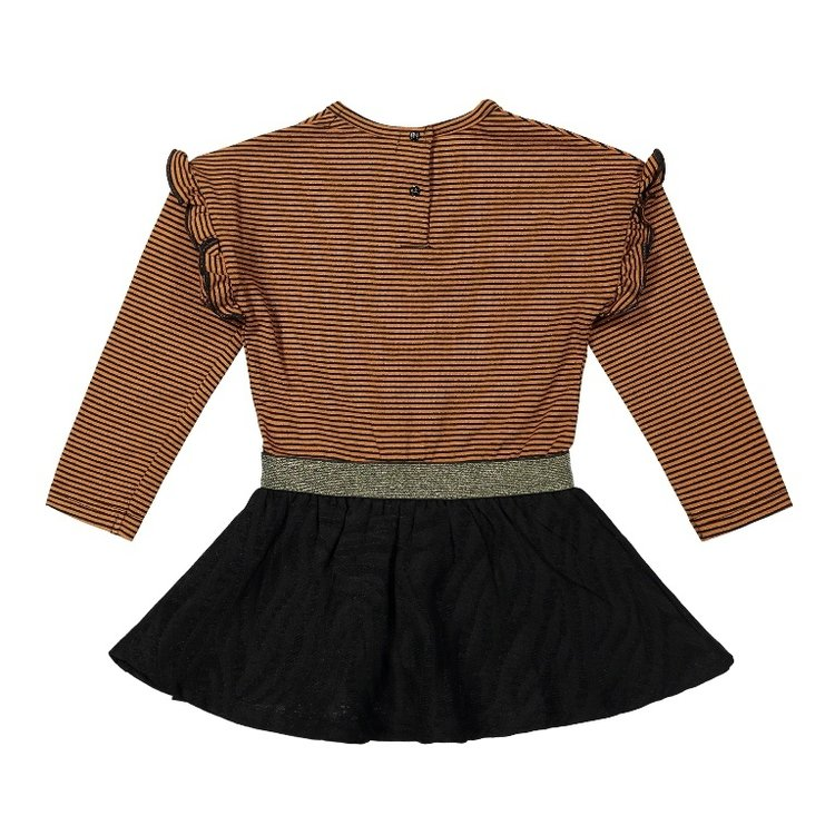 Koko Noko Mädchen Kleid rostbraun schwarz | F40985-37
