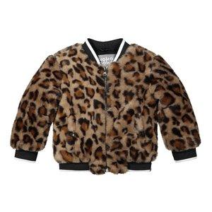 Koko Noko girls winter coat panther bomber jacket