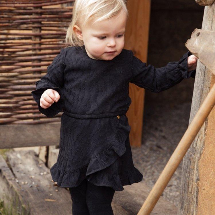 Koko Noko meisje jurk zwart tijger | F40989-37