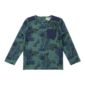 Koko Noko jongens shirt groen blauw