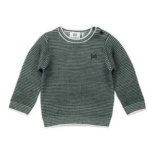Koko Noko boys sweater green stripe