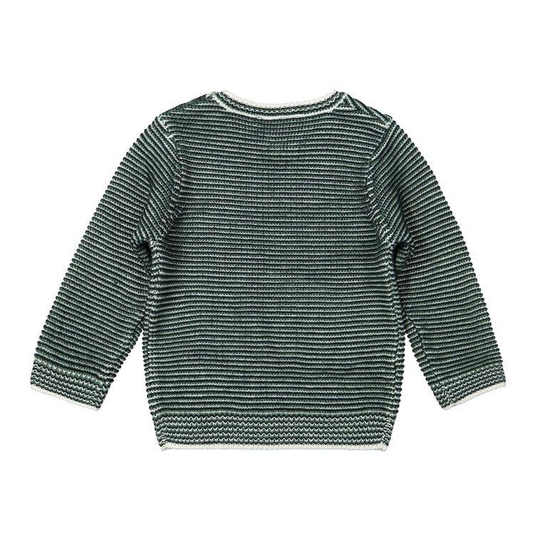 Koko Noko boys sweater green stripe | F40801-37