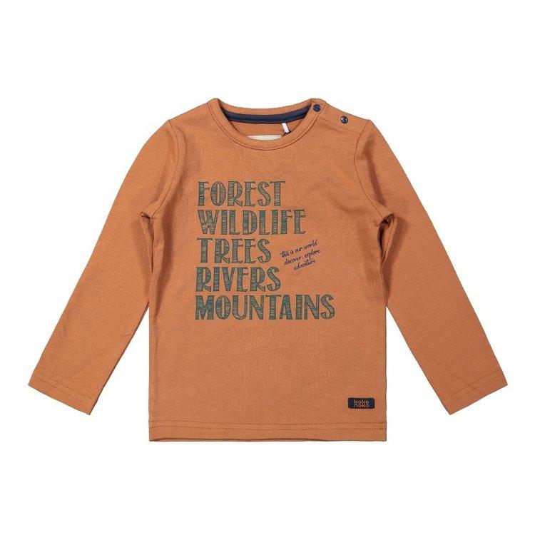 Koko Noko boys shirt camel | F40811-37