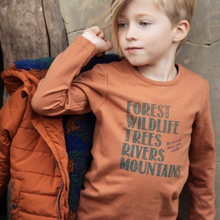 Koko Noko jongens shirt camel   F40811-37
