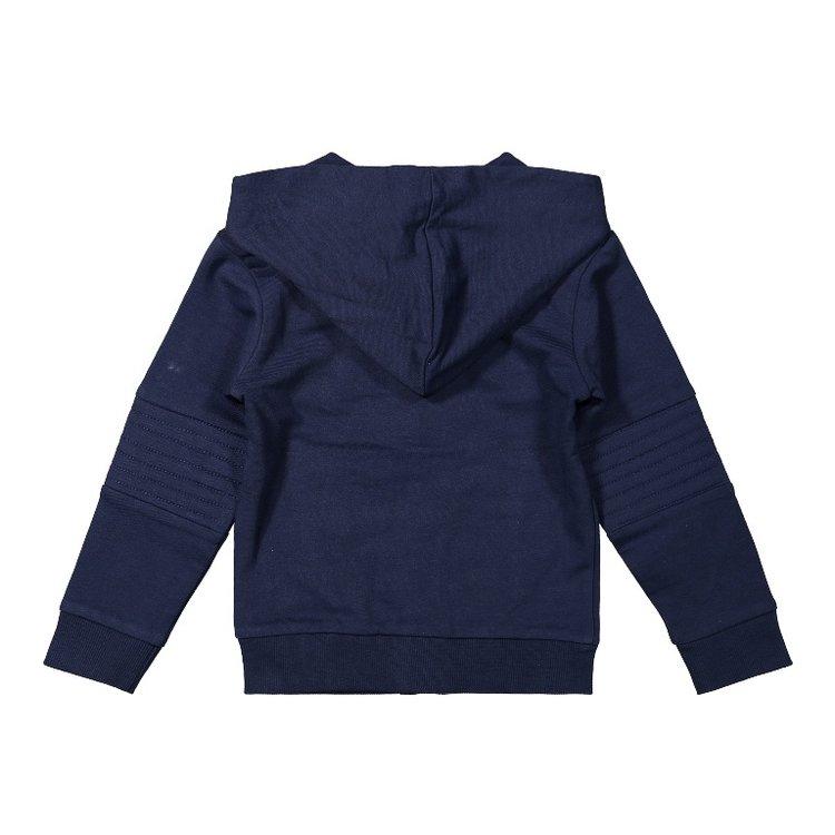Koko Noko boys cardigan dark blue with hood | F40813-37