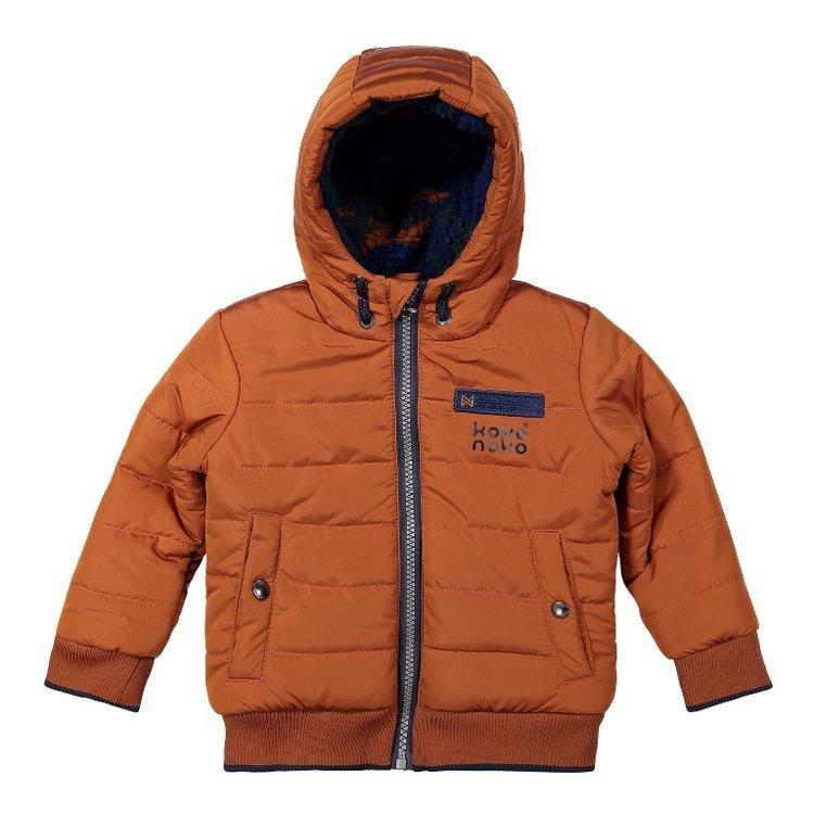Koko Noko boys winter jacket camel with hood   F40815-37