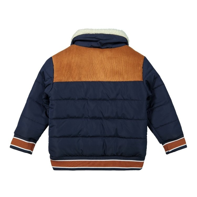 Koko Noko boys winter coat dark blue camel bomber jacket | F40819-37