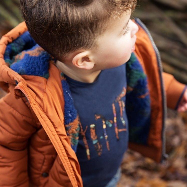 Koko Noko jongens shirt donkerblauw | F40820-37