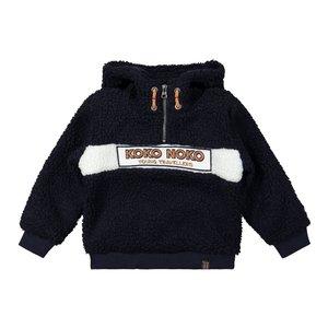 Koko Noko boys sweater dark blue borg