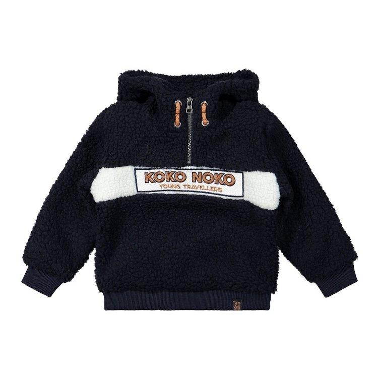Koko Noko Jungen Pullover dunkelblau borg   F40822-37