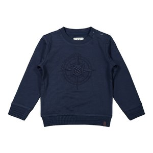 Koko Noko jongens sweater donkerblauw kompas