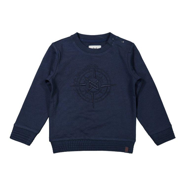 Koko Noko boys sweater dark blue compass | F40824-37