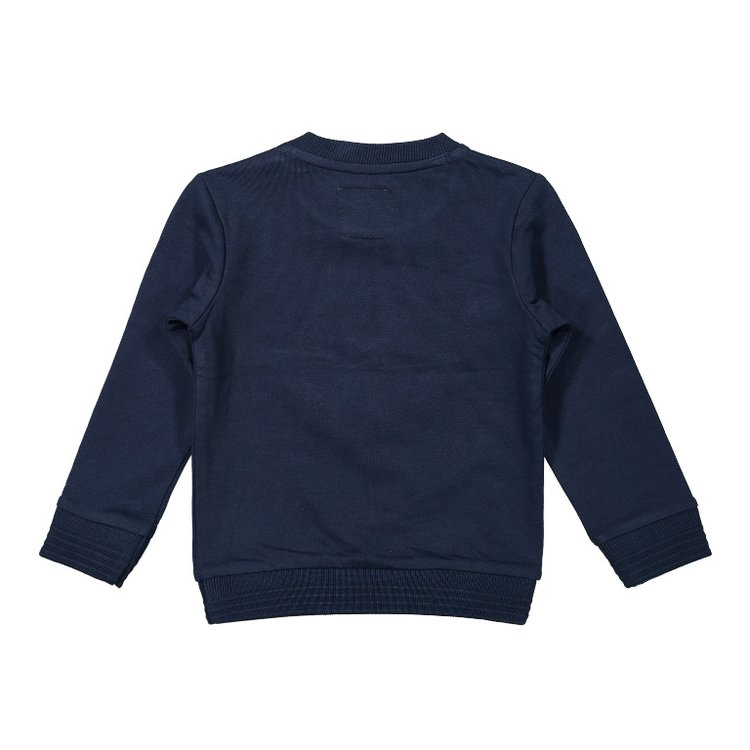 Koko Noko jongens sweater donkerblauw kompas   F40824-37
