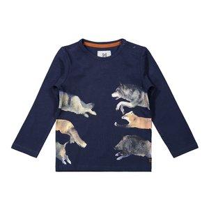 Koko Noko boys shirt dark blue animals