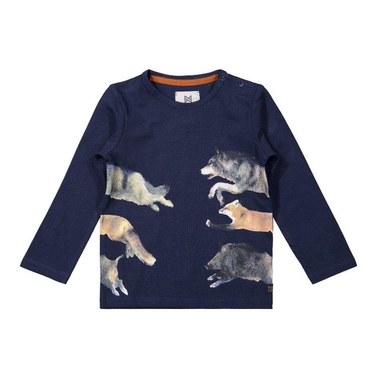 Koko Noko boys shirt dark blue animals | F40826-37