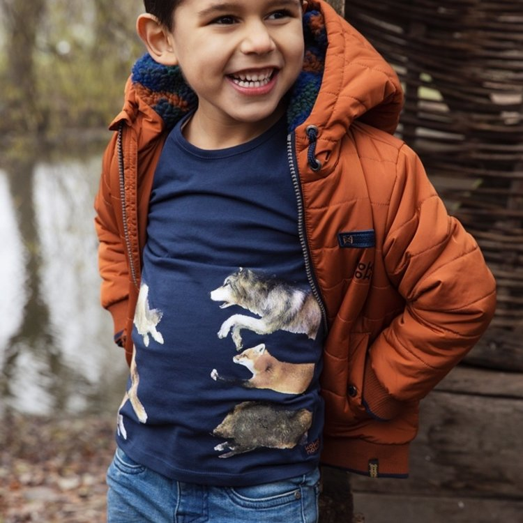 Koko Noko Jungen Shirt dunkelblau Tiere   F40826-37