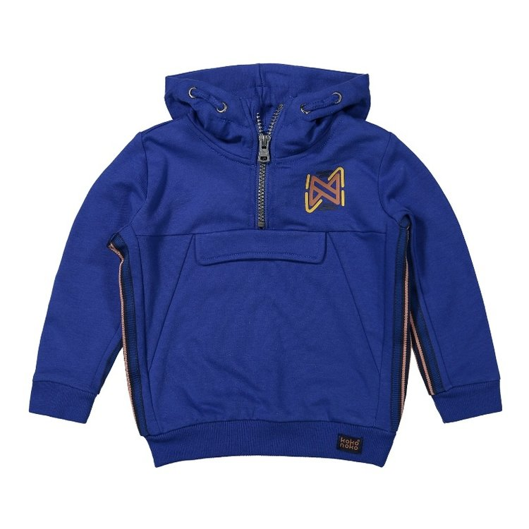 Koko Noko Jungen Pullover kobaltblau mit Kapuze | F40829-37