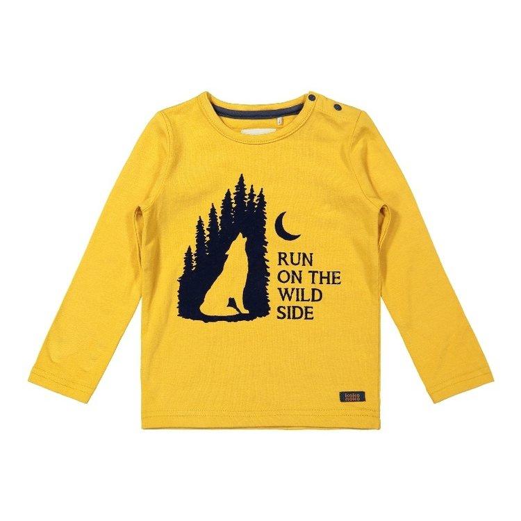 Koko Noko boys shirt ochre | F40831-37