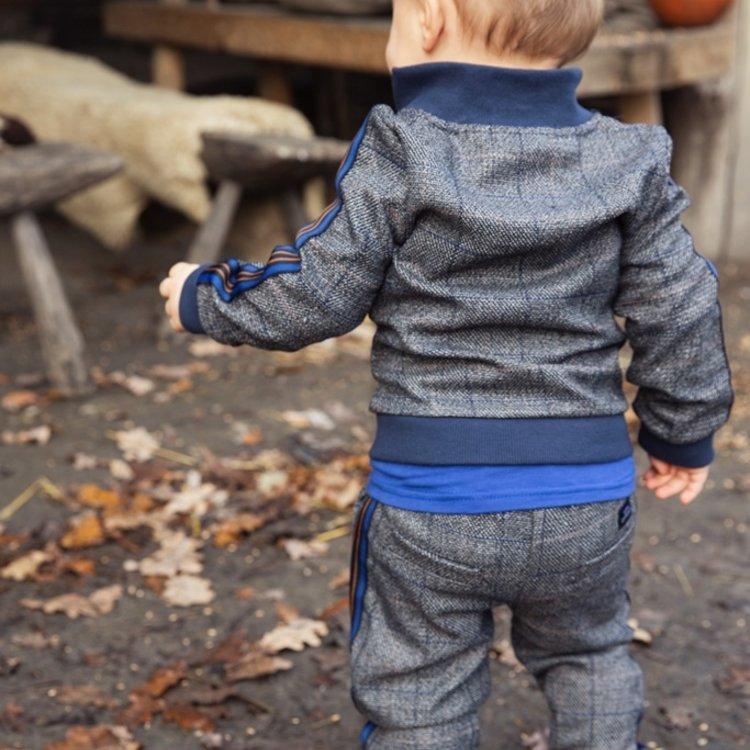 Koko Noko jongens broek grijs ruit   F40832-37