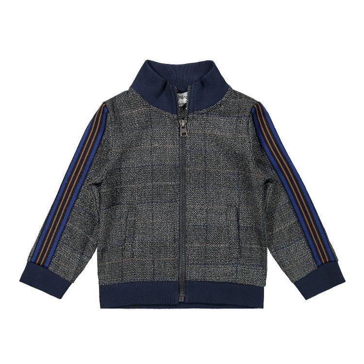 Koko Noko boys cardigan grey check | F40833-37