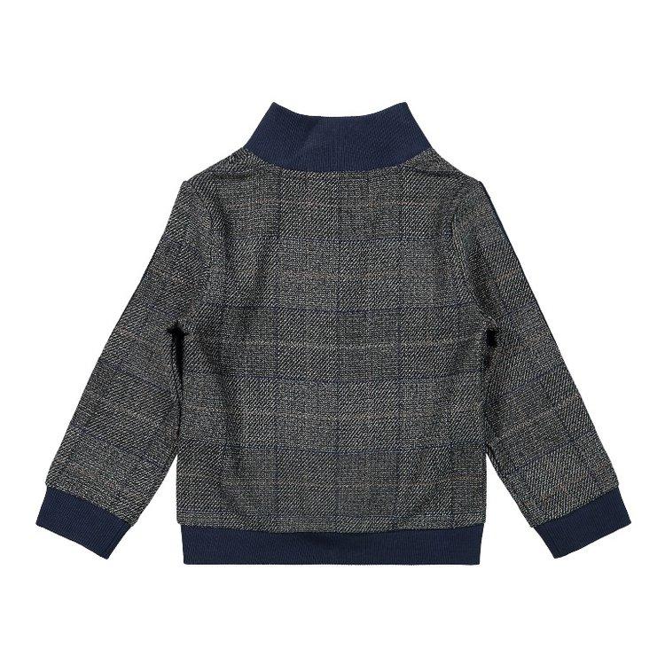 Koko Noko jongens vest grijs ruit   F40833-37