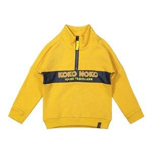 Koko Noko jongens sweater okergeel
