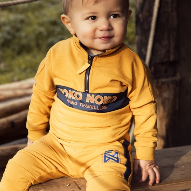 Koko Noko boys jogging trouser ocher yellow | F40836-37