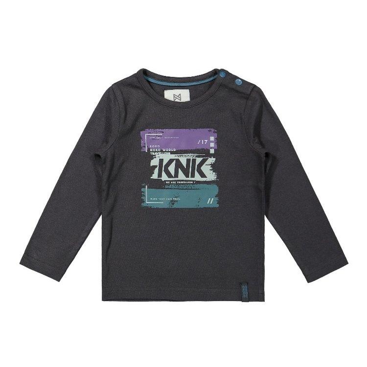 Koko Noko jongens shirt donkergrijs   F40840-37
