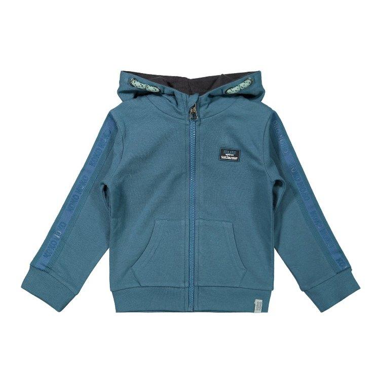 Koko Noko boys hooded cardigan petrol   F40841-37
