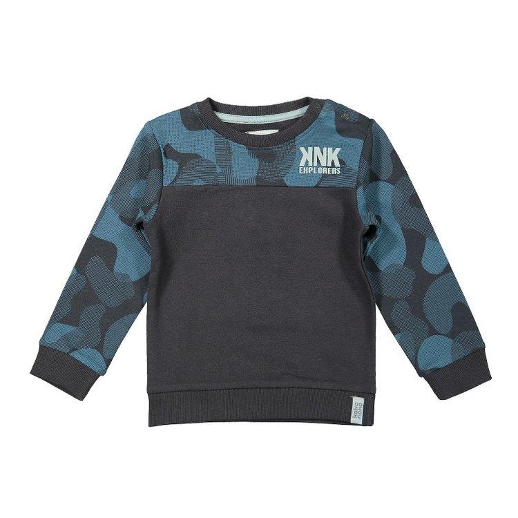 Koko Noko boys sweater dark gray petrol | F40849-37