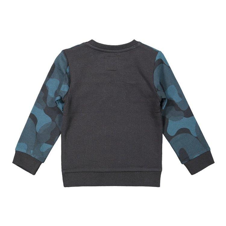 Koko Noko Jungen Pullover dunkelgrau petrol | F40849-37