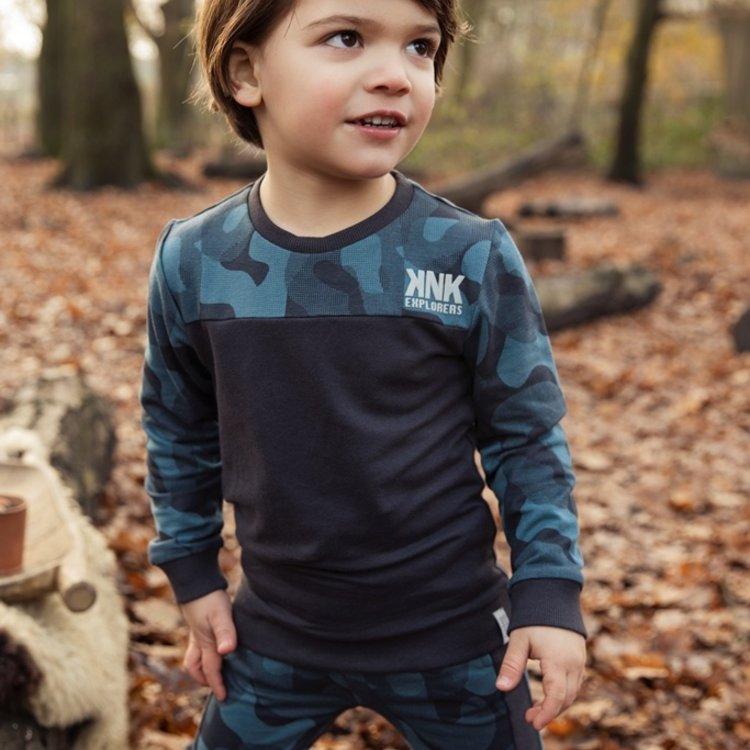 Koko Noko jongens sweater donkergrijs petrol   F40849-37