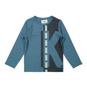 Koko Noko jongens shirt petrol donkergrijs