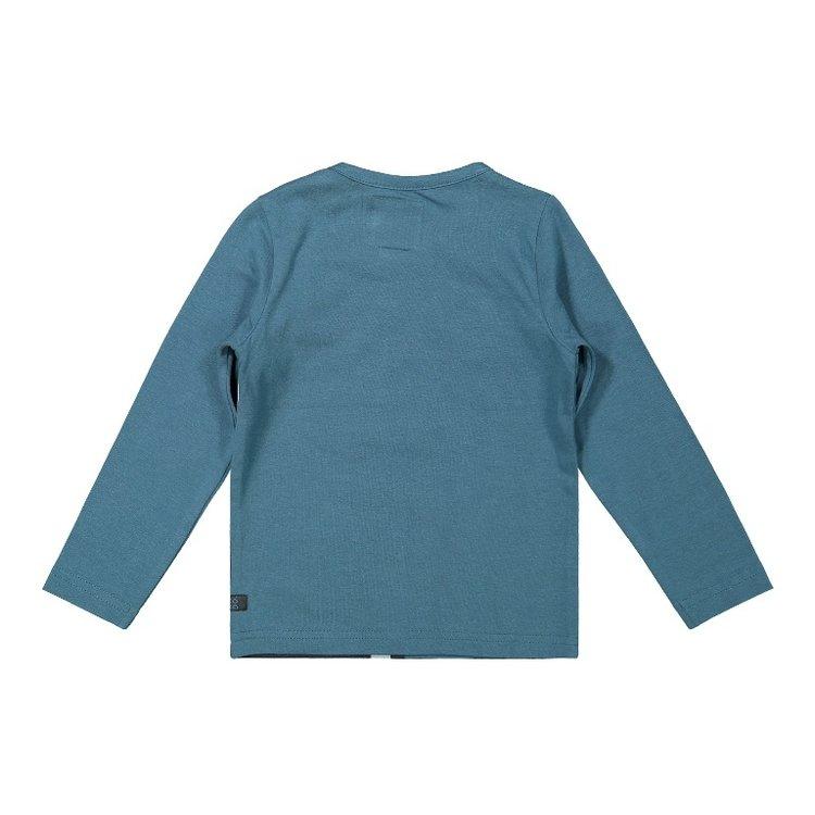 Koko Noko jongens shirt petrol donkergrijs   F40850-37