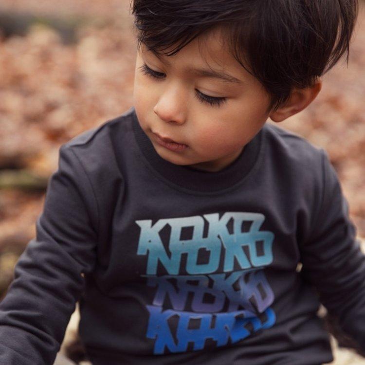 Koko Noko boys sweater dark grey | F40858-37